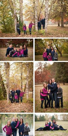 Fall Family Portraits / Pose ideas for family of 5 / Robinwood Photography. More on the blog! robinwoodstudios....