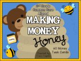 Making Money Honey: Math Task Cards (Common Core Aligned) product from Creekside-Teacher-Tales on TeachersNotebook.com