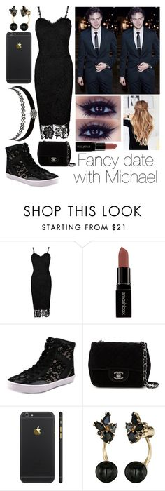 """Fancy date with Michael Clifford"" by jellybeanelle ❤ liked on Polyvore featuring Smashbox, Rebecca Minkoff, Chanel, Charlotte Russe and Kate Spade"
