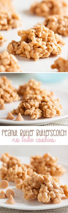 Too hot to be in the kitchen? These Peanut Butter Butterscotch No-Bake Cookies are a great alternative to baking.