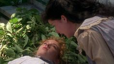 DIANA: Oh, Anne! Oh, Anne! Oh, are you killed? Just say one word and tell me if you're killed!   ANNE: No, but I think I've been rendered unconscious. (Anne of Green Gables)