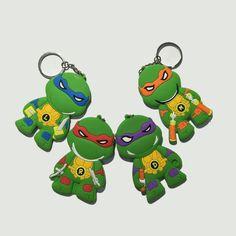Keychain TEENAGE MUTANT NINJA TURTLES Backpack Charm Key Ring 4 Styles