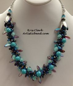 Kumihimo necklace by Kris Clark.  See more Kumihimo and other bead projects at www.artisticbead.com.