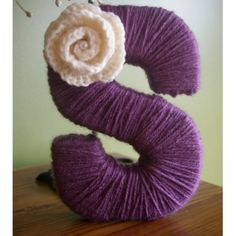 Yarn letters - L for Lydia