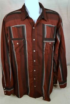 Men's Size 2XT Long Sleeve Western Shirt By Canyon Guide Outfitters #Western