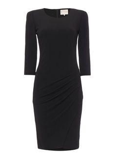 SuperTrash Jersey jurk met schoudervullingen en plooien