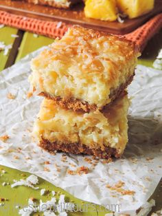 Piña Colada Bars by freshaprilflours #Bars #Pina_Colada #Coconut #Pineapple #Cream_Cheese