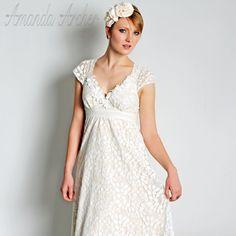 Dot Tüll und Seide Ivory Brautkleid von AmandaArcher auf Etsy