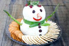Snowman Cheeseball@Pinterest