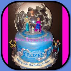 Snow Globe Frozen Themed Cake