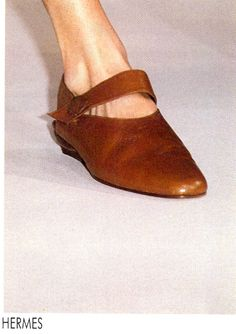 Shoes at Hermes Menswear Spring/Summer 1990