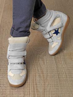 ISABEL MARANT baskets coin Bayley bleu
