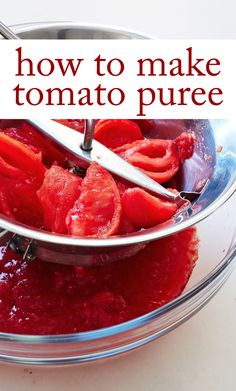 Tomato Puree | Martha Stewart Living - Milled tomatoes are the gift ...