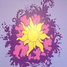 Rapunzel mural in dds' room