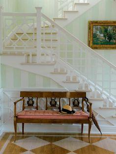 split level staircase.
