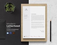 by CreativeZoom on Etsy Company Letterhead, Letterhead Business, Business Cards, Printable Invoice, Invoice Template, Invoice Sample, Resume Templates, Microsoft Word, Letterhead Design Inspiration