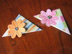 Corner bookmark tutorial--cute for stocking stuffers!