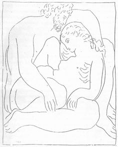 Picasso, A wide range of Picasso's prints and drawings of the and contain depictions of hands that are identical in style to the crucified figure's right hand (seen on the left) in the drawing. Pablo Picasso, Picasso Sketches, Picasso Drawing, Line Sketch, Line Drawing, Picasso Prints, Black And White Drawing, Figure Painting, All Art