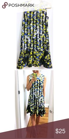 Peter Pilotto x Target Floral Dress Colorful dress perfect for spring/summer days, cocktails, or work. The bottom has a fun peplum silhouette and can be dressed up with simple heels or casual with flats. Peter Pilotto for Target Dresses Mini