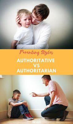 Authoritative vs Authoritarian Parenting Styles Differences Infographic