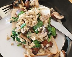 Spinach & Mushrooms Scrambled Egg Recipe – Amy Bishop Fitness