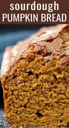 Savory Pumpkin Recipes, Zucchini Bread Recipes, Cinnamon Recipes, Sourdough Recipes, Healthy Pumpkin, Flour Recipes, Sourdough Starter Discard Recipe, Pumpkin Bread, Cheese Pumpkin