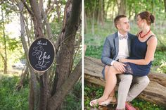 vibrant colorful vintage engagement styled shoot proposal garden chandelier chalkboard signs daises flowers : she said yes! sign art by I DO SIGNS : www.i-do-signs.com