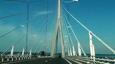 Traversée du pont de normandie