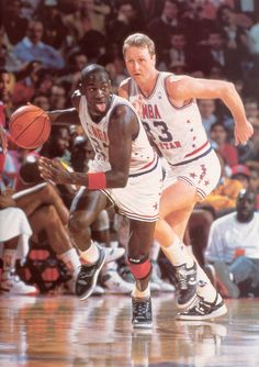 Michael Jordan and Larry Bird