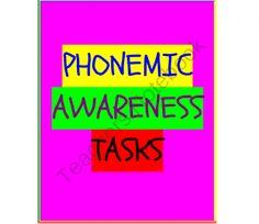 Phonemic Awareness Tasks product from Mrs-Ps-ideas on TeachersNotebook.com