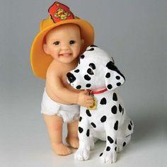 Ashton Drake   Ashton Drake HUG A FIREFIGHTER TODAY Little Fireman Realistic Baby ...