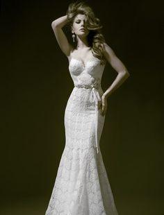Pnina Tornai - Sweetheart Mermaid Gown in Lace