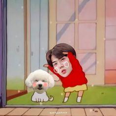 Memes Exo, Funny Kpop Memes, Exo Cartoon, Cartoon Edits, Baekhyun, Hunhan, Kpop Exo, Pics Art, Funny Faces