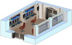 USS Saratoga - Communications room by bobye2.deviantart.com on @DeviantArt