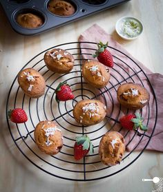 Strawberry Coconut and Lime Friands (gluten and dairy free) - http://wholesome-cook.com/2012/06/27/strawberry-coconut-and-lime-friands-gluten-and-dairy-free/