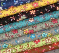 Cotton Quilt Fabric Bundle of Eight Fabrics from Marshall Dry Goods' Happy Collection, Fat Quarter, Half Yard, or Full Yard Cuts by fabric406 on Etsy