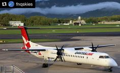 Today @qantas is celebrating 17 years of flying from Cairns to Hamilton Island! Congratulations from everyone at Cairns Airport  #Repost @fnqskies with @repostapp  Qantas Link Q400 VH-LQL at Cairns Airport.