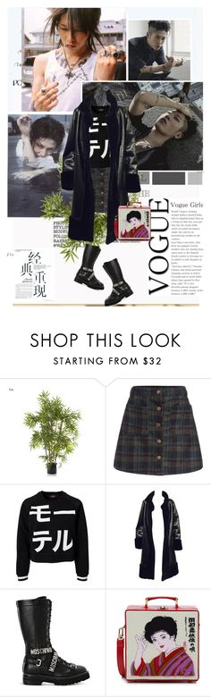 """""""We are the others"""" by lisannevicious ❤ liked on Polyvore featuring EMAC & LAWTON, Motel, Moschino, Olympia Le-Tan, japan, jRock and Miyavi"""