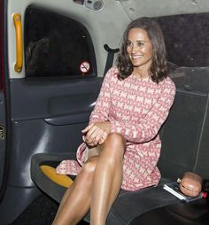 Pippa Middleton wearing Hoss Intropia jacket and clutch