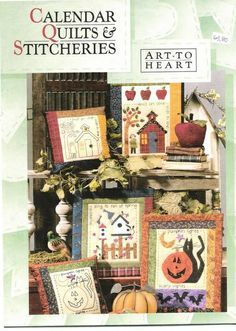 Capa Revista Art To Heart - Calendar Quilts And Stitcheries by renatarnv1981, via Flickr
