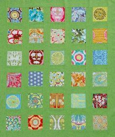 Squares and Sashing Throw - showcase kids prints or florals or theme fabrics (christmas?)