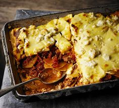 Make a change from moussaka with this warming baked one-pot - layer up slices of swede with lamb mince and finish with creamy feta Mince Recipes, Lamb Recipes, Fish Recipes, Cooking Recipes, Swede Recipes, Vegetable Puree, Greek Dishes