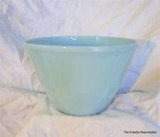 "Vintage Fire-King Bowl Splash Proof Turquoise Blue 8 1/2"" Delphite Blue"