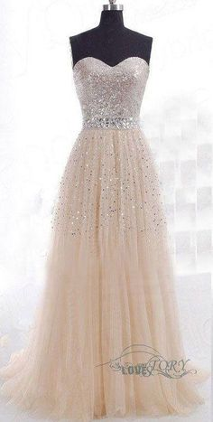 Shiny Tulle Party Dress, A-Line Party Dress, Beads Online, Cheap Prom Dress, without the sparkles it would be perfect! Grad Dresses, Cheap Prom Dresses, Dance Dresses, Homecoming Dresses, Bridesmaid Dresses, Formal Dresses, Wedding Dresses, Dress Prom, Dress Long
