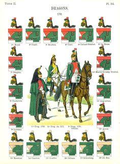 Dragons.1791 Uniformes de I'Armee Francaise 1690-1894