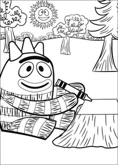Yo Gabba Gabba Printable Coloring Pages  Muno coloring sheet