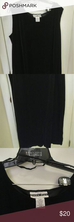 Donna Kay Velour black Dress 20w Donna Kay Velour Black Dress 20W.  Maxi sleeveless dress. Pairs nicely with crop sweaters or jackets. Donna Kay Dresses Maxi