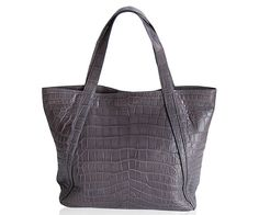 "Crocodile Handbag ""Spolletto"" www.atelierdoutremer.com Crocodile Handbags, My Collection, Tote Bag, Totes, Tote Bags"