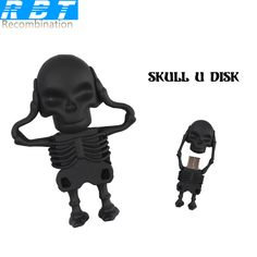 RBT USB Flash Drive Real Capacity High Speed Skeletons 8GB 16GB 32GB Memory Usb Stick 2.0 Pen Drive Pendrive For PC