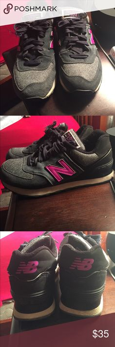 New Balance Shoes from Anthropologie New Balance Tennis Shoes form Anthropologie! Good condition! Great navy color and purple pink accent color! Size 7! Great for leisure wear! New Balance Shoes Sneakers